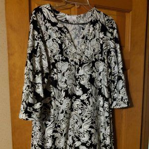 Jude Connally large Black and Silver Dress